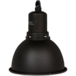 Ceramic Reflector Clamp Lamp BLACK EDITION - Small 75 watt lamp max